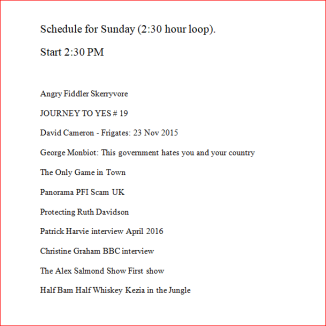 Sunday schedual PNG